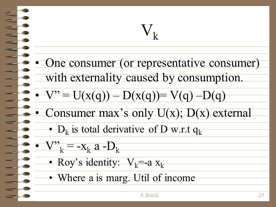 P. Berck24 Optimal Tax Max z,q V(q) s.t.