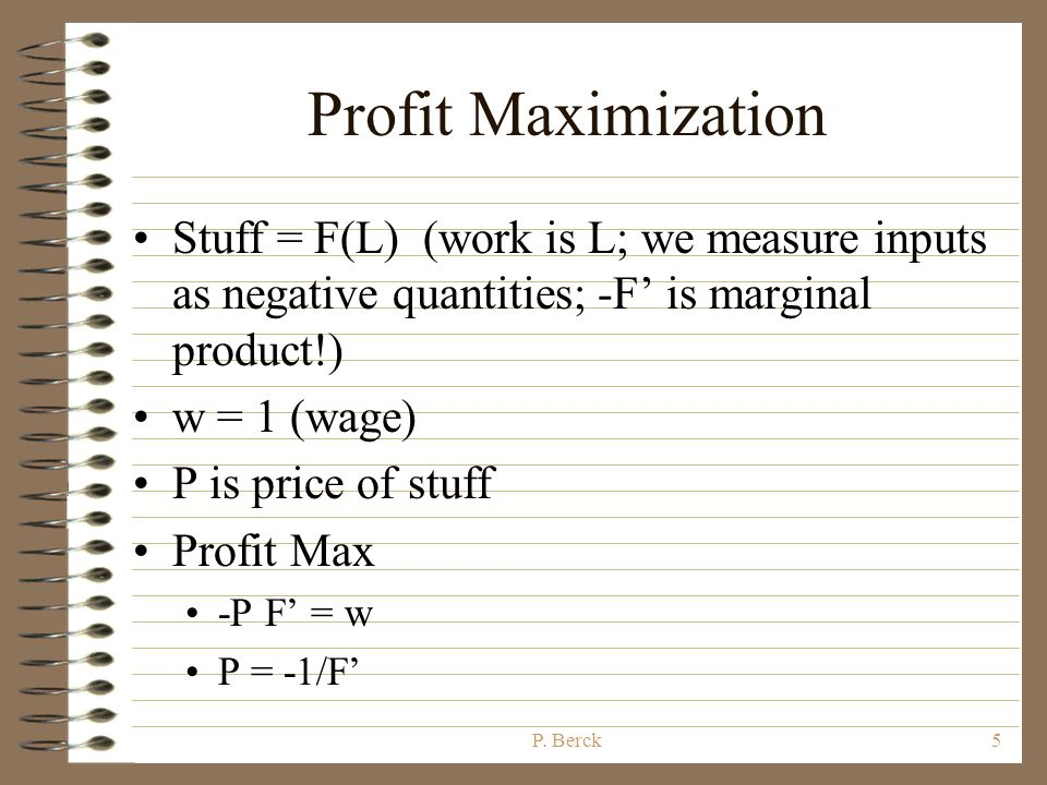 P. Berck4 Graphical Derivation: Offer Leisure StuffStuff E Offer Curve E is the consumer's endowment of time. It is allocated to leisure or sold, call
