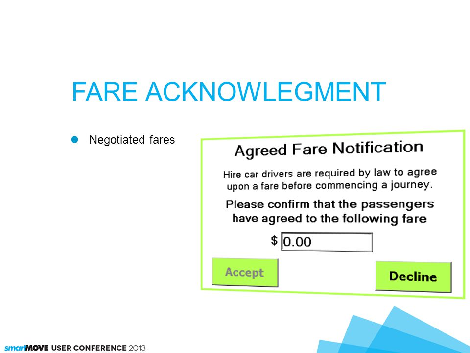 Negotiated fares FARE ACKNOWLEGMENT