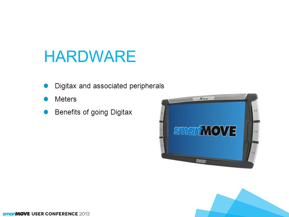 Digitax and associated peripherals Meters Benefits of going Digitax HARDWARE