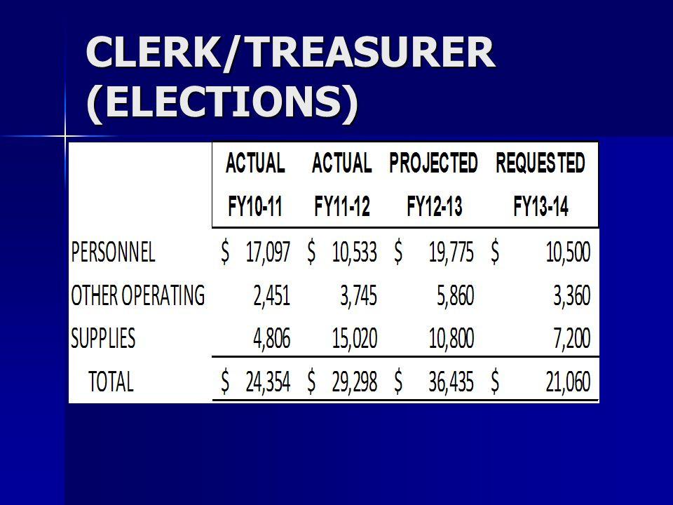CLERK/TREASURER (ELECTIONS)