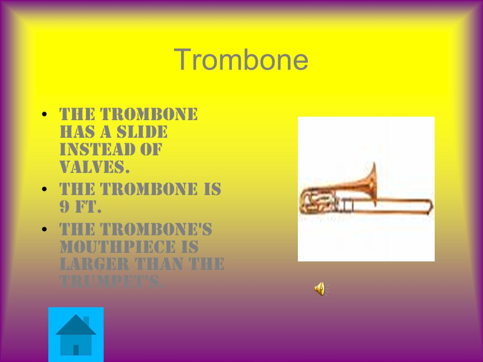 Instruments Tuba Place picture here French horn Place picture here Trumpet Place picture here Trombone Place picture here