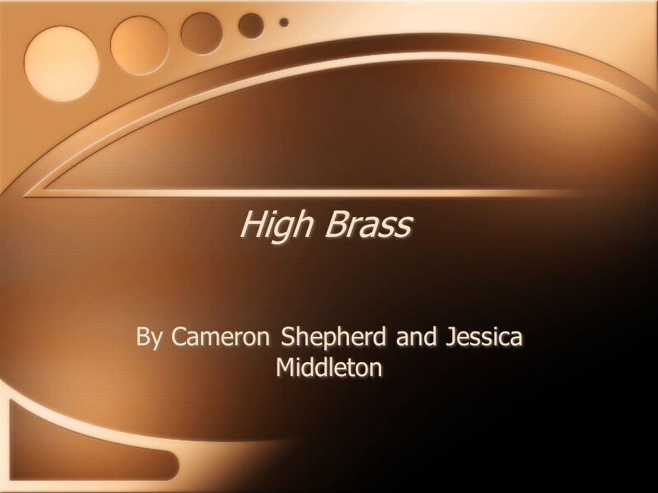 High Brass By Cameron Shepherd and Jessica Middleton