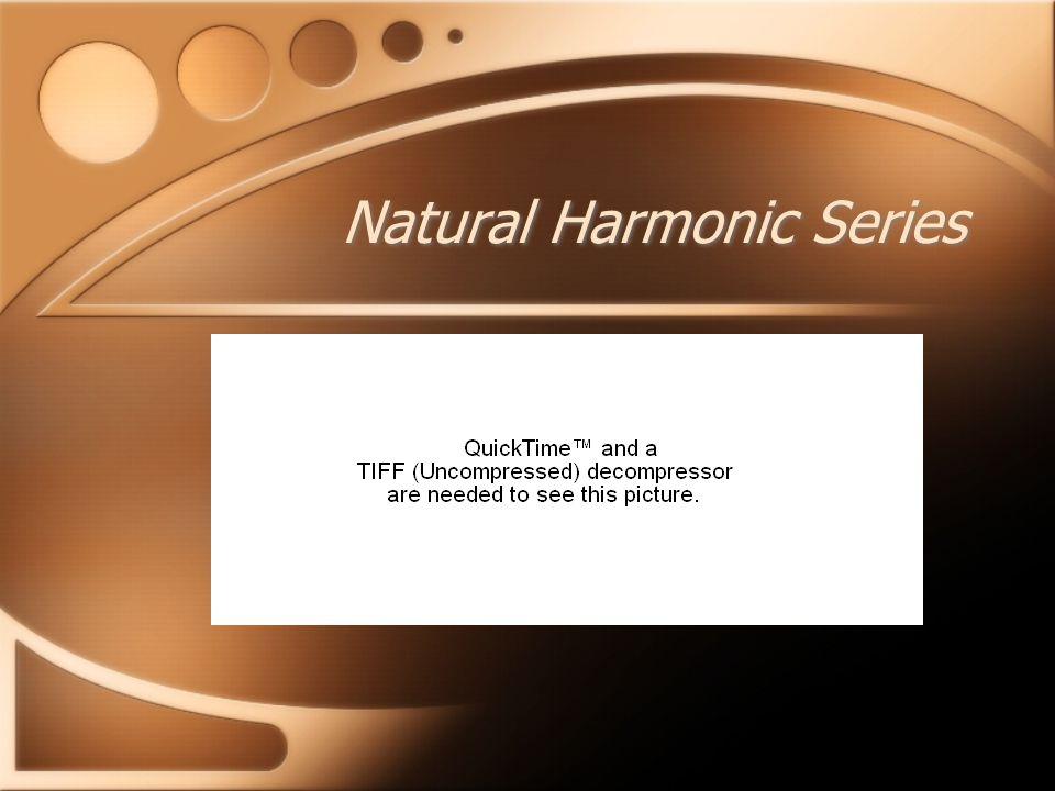 Natural Harmonic Series