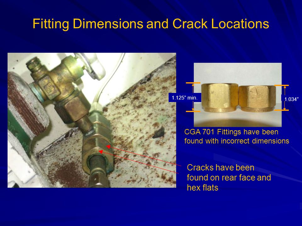 Fitting Dimensions and Crack Locations 1.125 min.