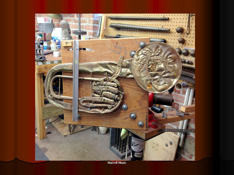 INSTRUMENTPROBLEMSOLUTION BrassWater key corks Broken braces Finger rings Painters tape Zip ties TrumpetStuck 2 nd valve - Books in case 2 nd slide repositioning.