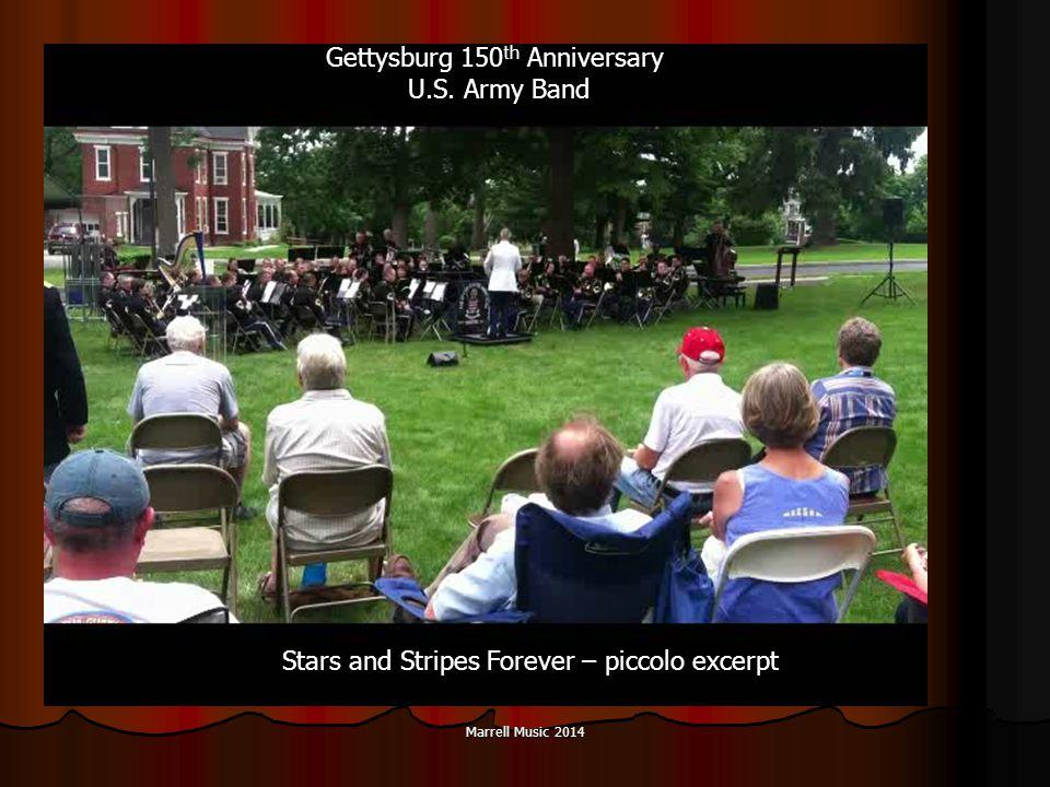 Marrell Music 2014 Gettysburg 150 th Anniversary U.S.