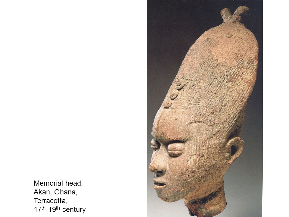 Memorial head, Akan, Ghana, Terracotta, 17 th -19 th century
