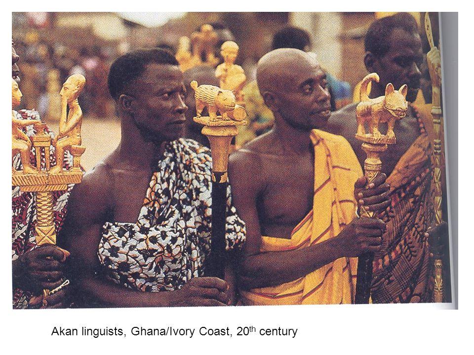 Akan linguists, Ghana/Ivory Coast, 20 th century