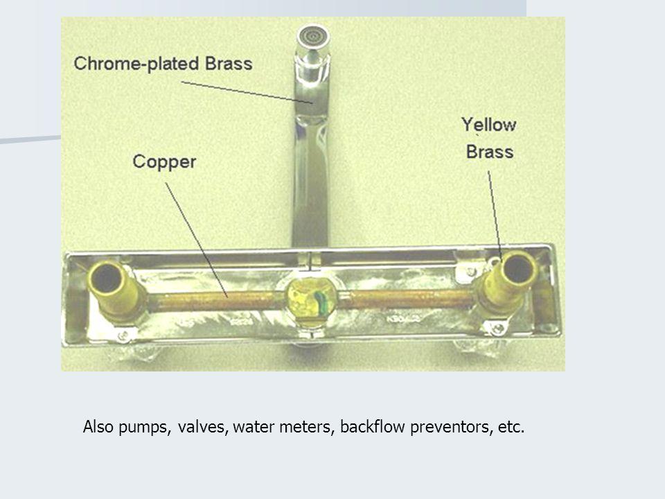 Also pumps, valves, water meters, backflow preventors, etc.
