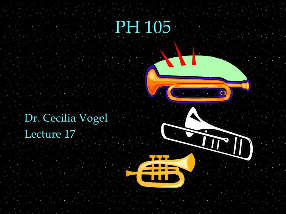 PH 105 Dr. Cecilia Vogel Lecture 17