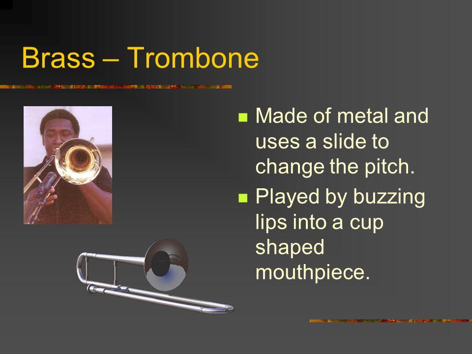Brass – Trumpet Large case size. A cornet is a smaller type trumpet.