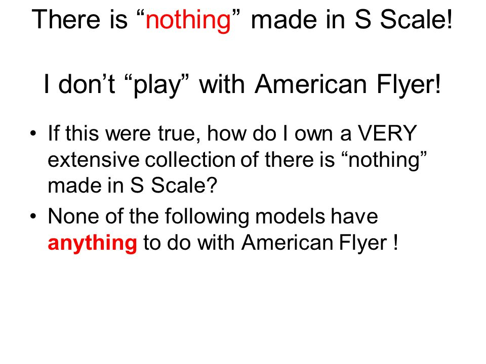 Why Choose S Scale.