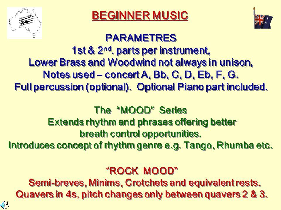 8 BEGINNER MUSIC PARAMETRES 1st & 2 nd.