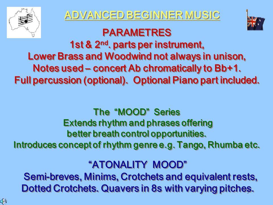 9 ADVANCED BEGINNER MUSIC PARAMETRES 1st & 2 nd.
