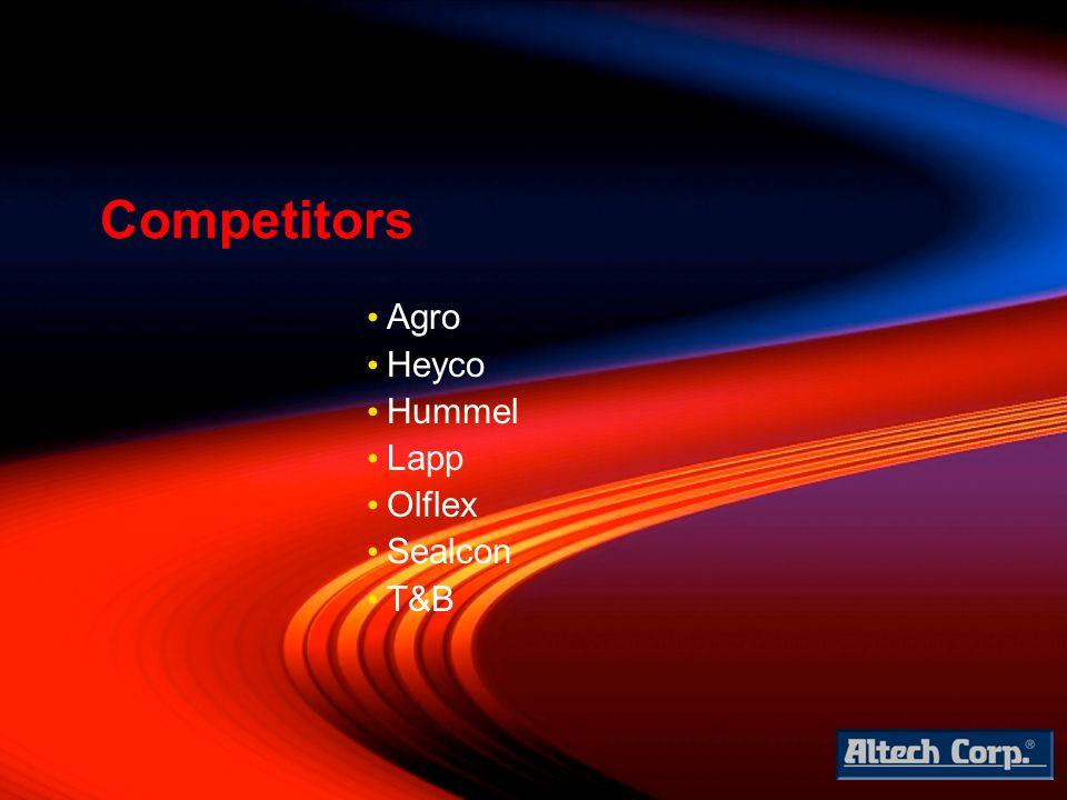 Agro Heyco Hummel Lapp Olflex Sealcon T&B Competitors