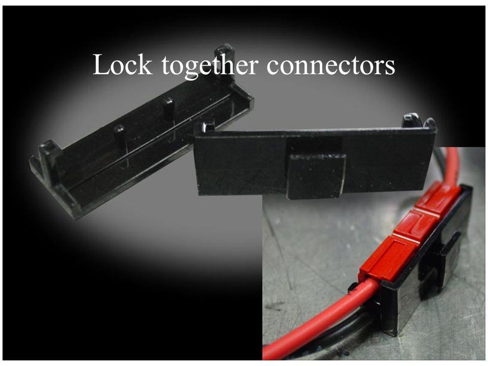 Lock together connectors