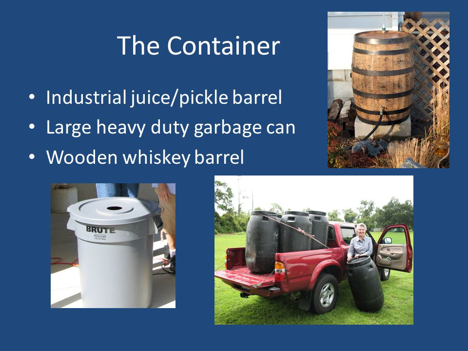The Container Industrial juice/pickle barrel Large heavy duty garbage can Wooden whiskey barrel