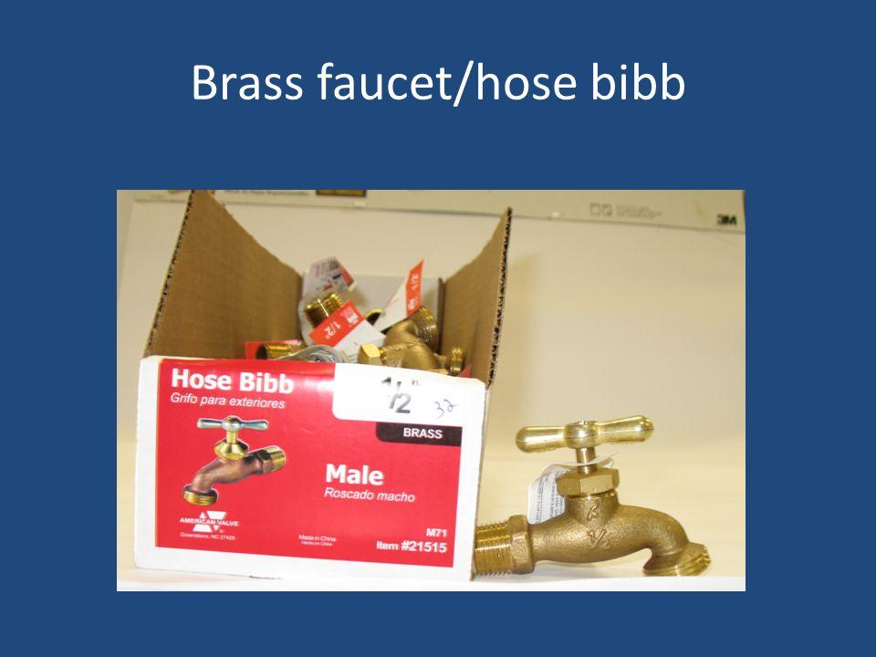 Brass faucet/hose bibb