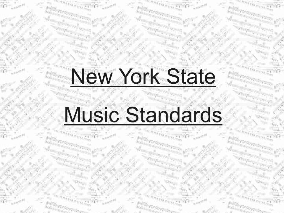 New York State Music Standards
