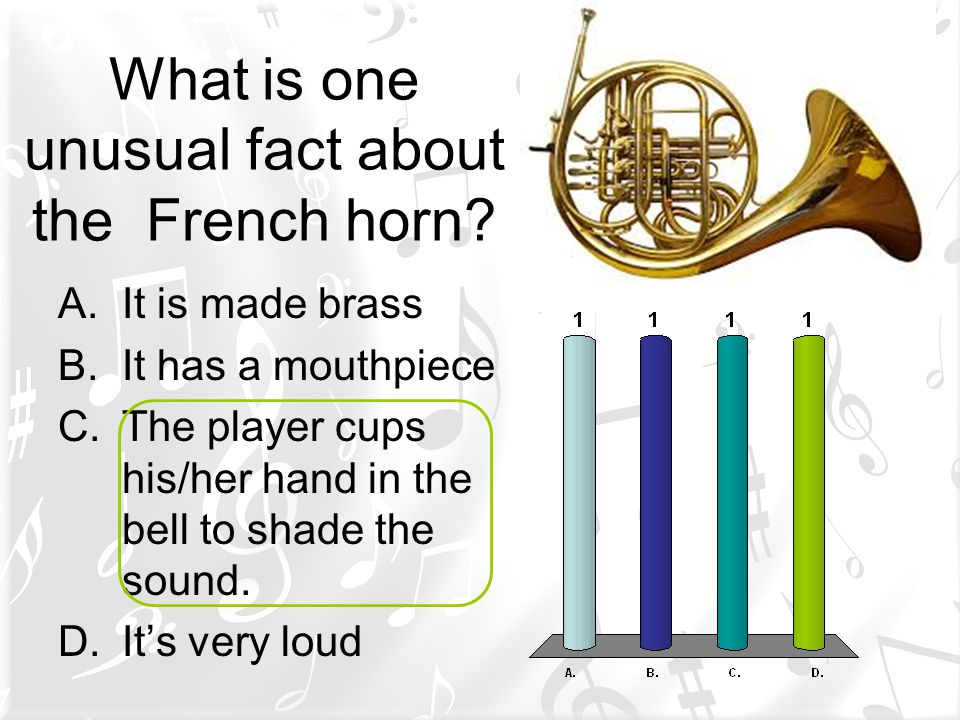 What is one unusual fact about the French horn.