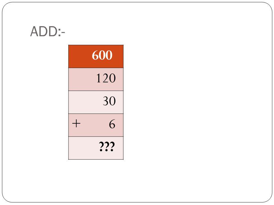 HOW TO MULTIPLY:- 63X12 603 1060X10 600 3X10 30 260X2 120 3X2 6