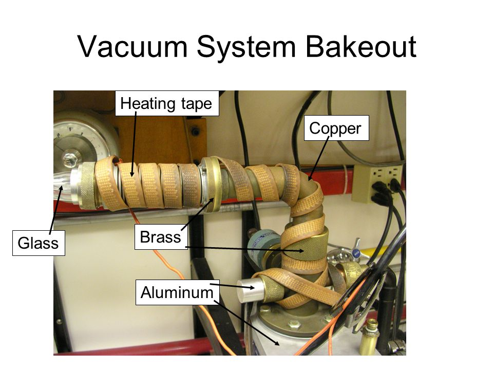 Vacuum System Bakeout Heating tape Glass Copper Brass Aluminum