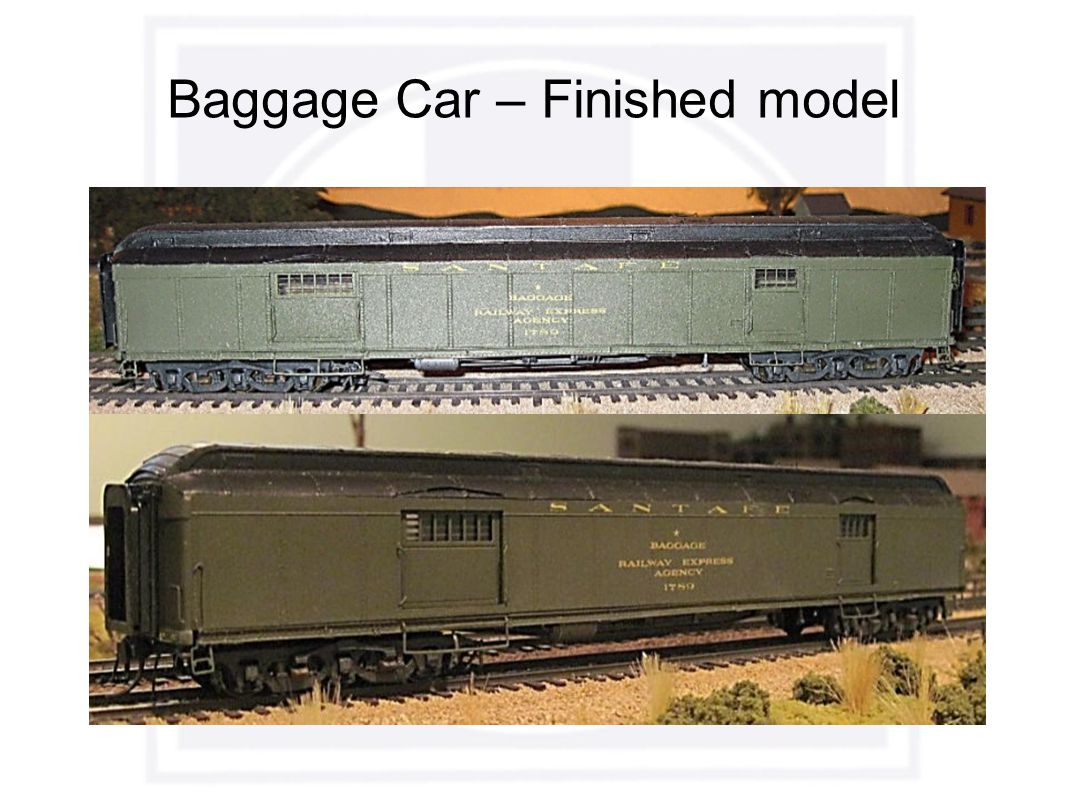Baggage Car – Finished model