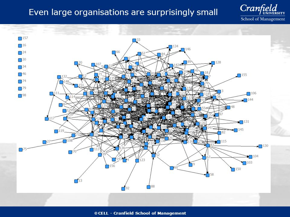 © CELL - Cranfield School of Management Even large organisations are surprisingly small