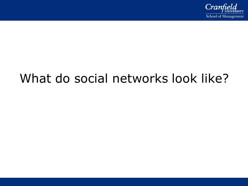 What do social networks look like