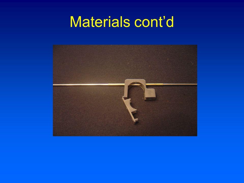 Materials cont'd