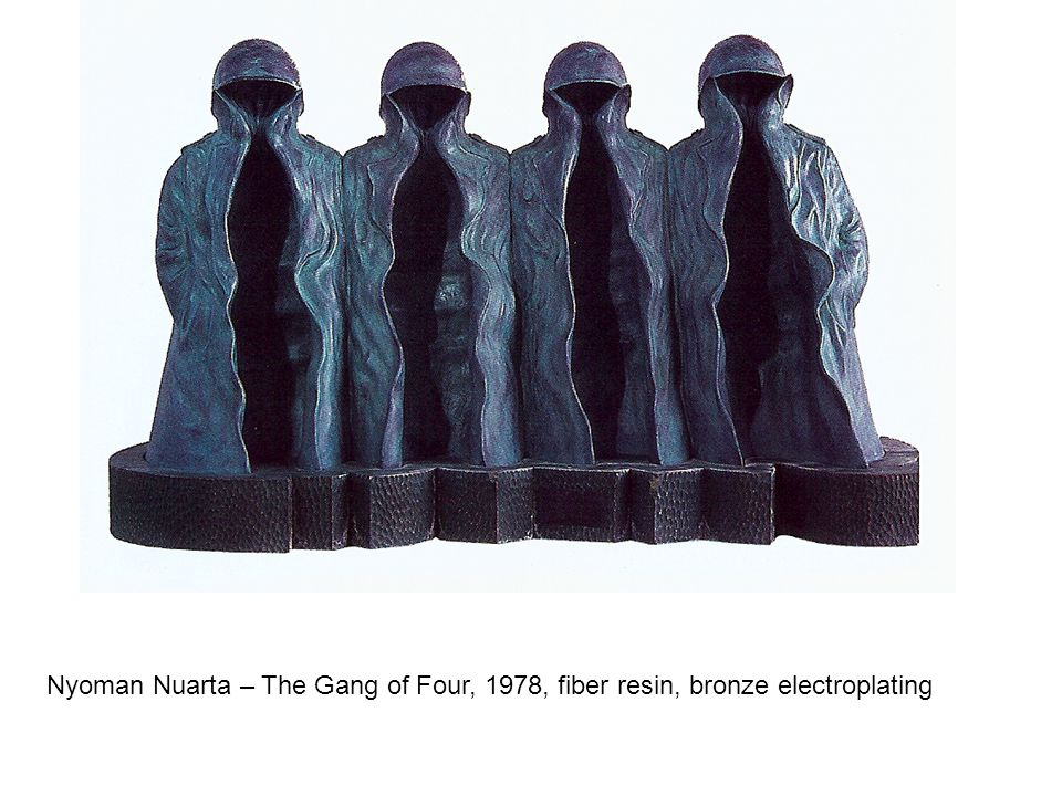 Nyoman Nuarta – The Gang of Four, 1978, fiber resin, bronze electroplating