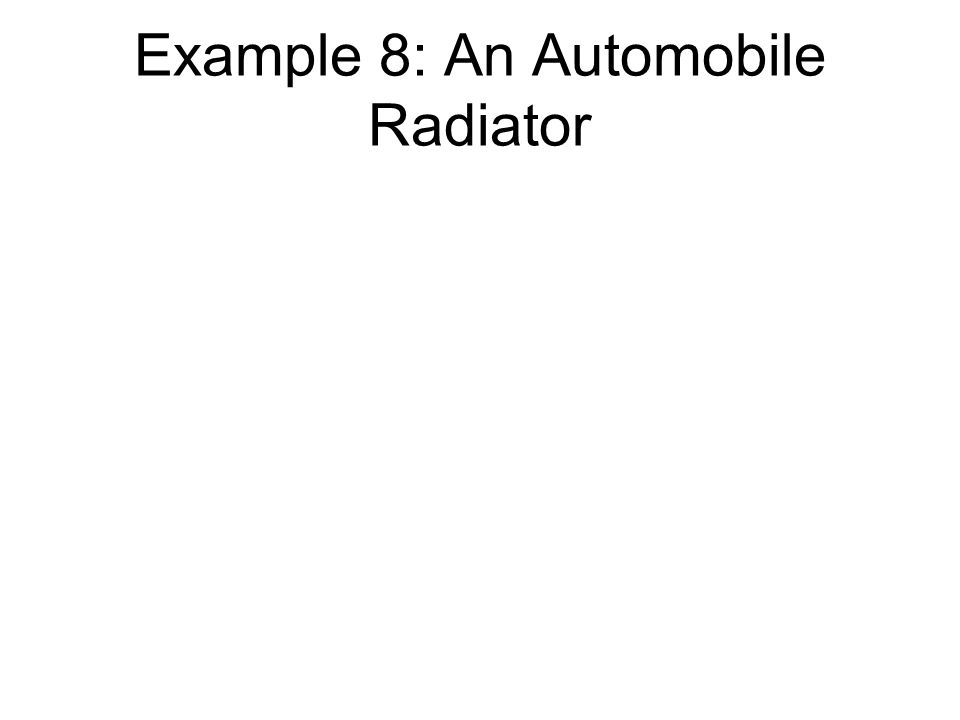 Example 8: An Automobile Radiator