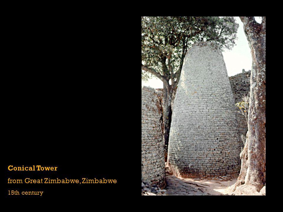 Conical Tower from Great Zimbabwe, Zimbabwe 15th century