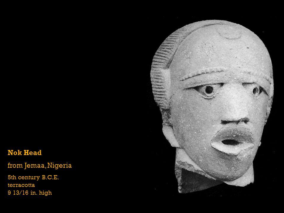 Nok Head from Jemaa, Nigeria 5th century B.C.E. terracotta 9 13/16 in. high