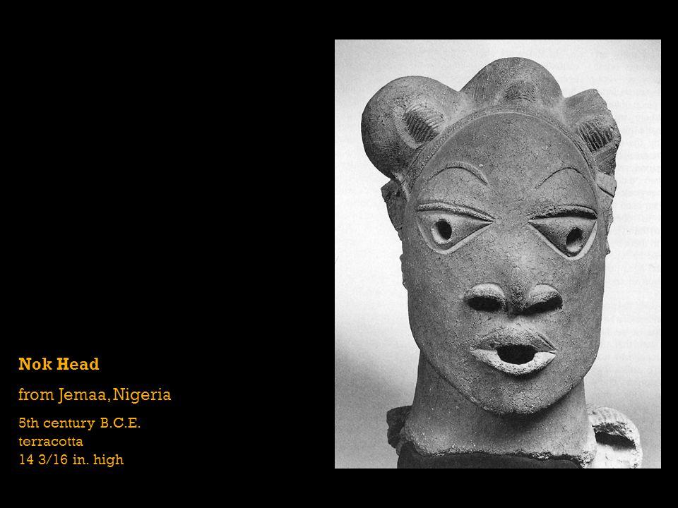 Nok Head from Jemaa, Nigeria 5th century B.C.E. terracotta 14 3/16 in. high