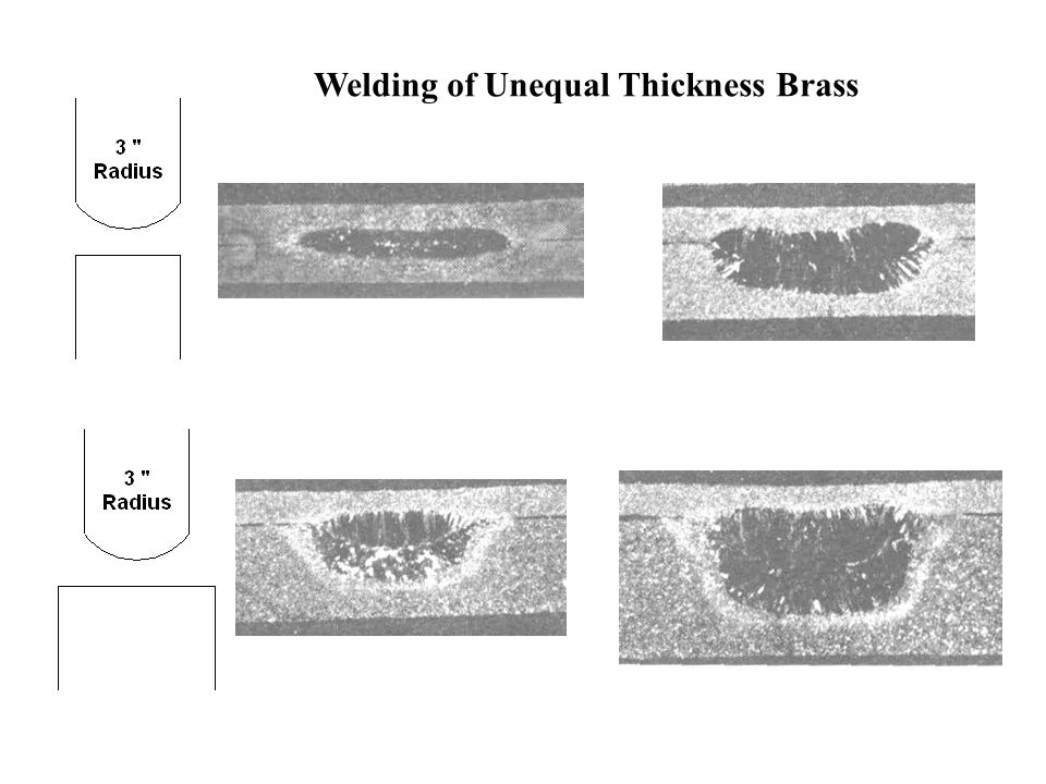 Welding of Unequal Thickness Brass