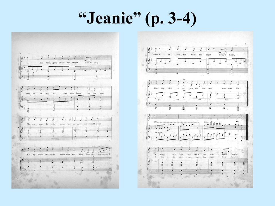 Jeanie (p. 3-4)