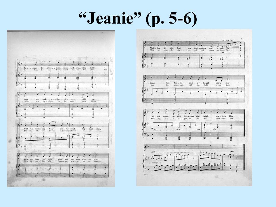 Jeanie (p. 5-6)