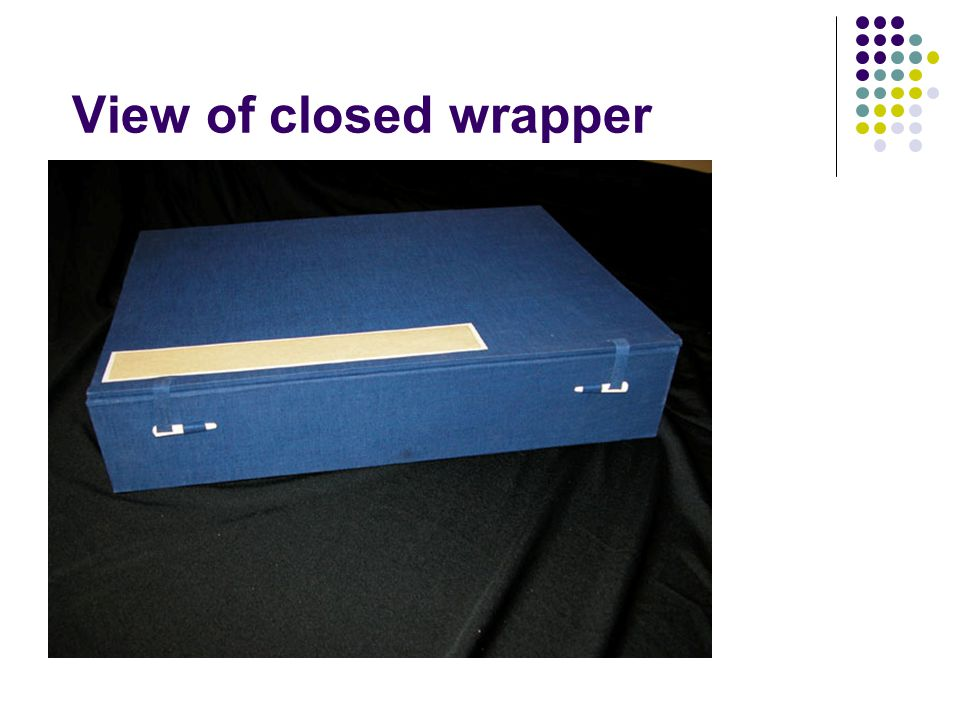 View of closed wrapper