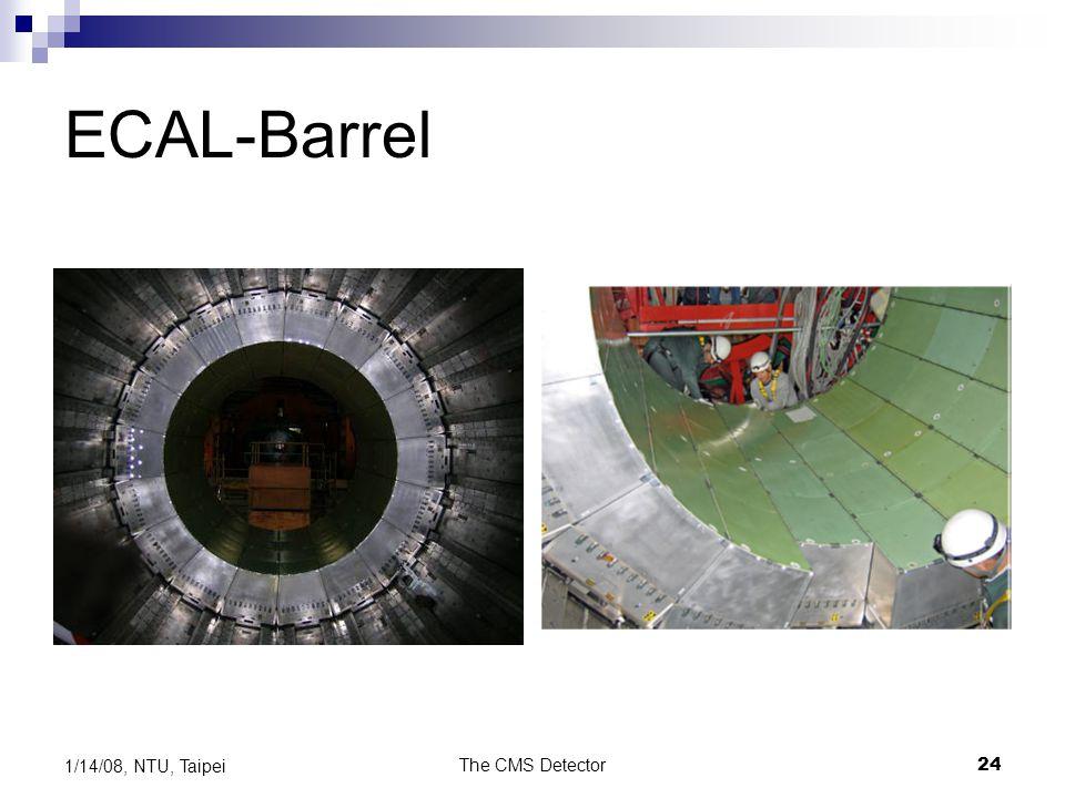 The CMS Detector24 1/14/08, NTU, Taipei ECAL-Barrel