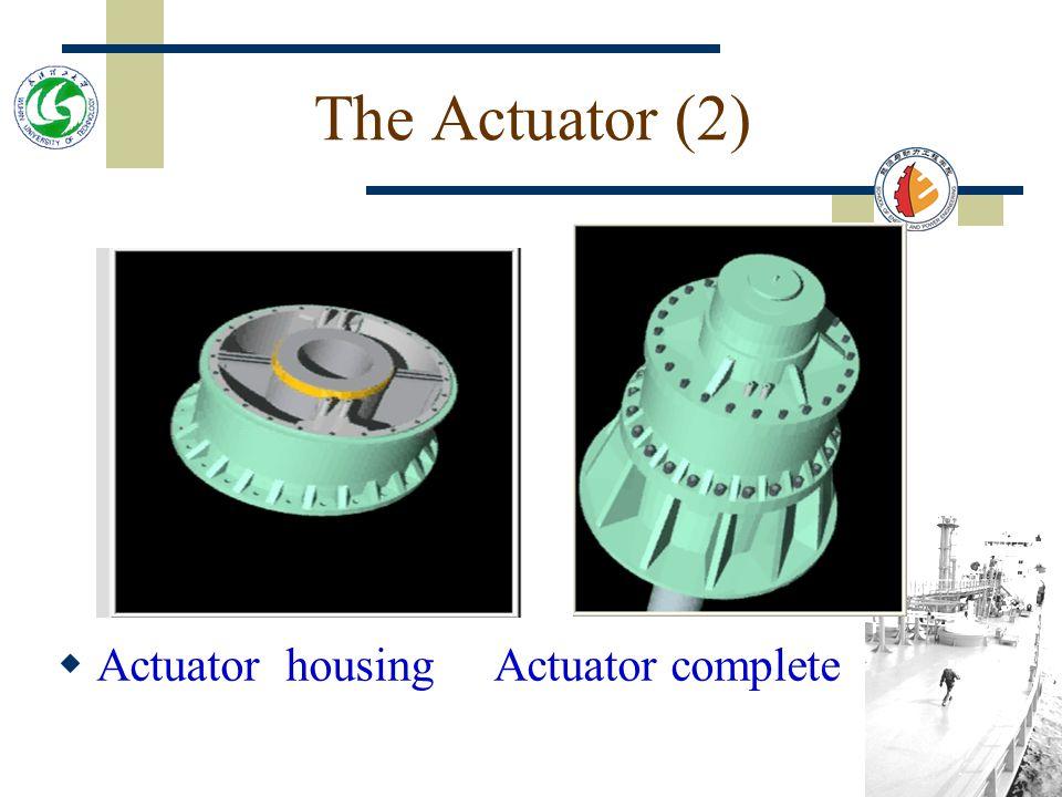The Actuator (1)  Rudderstock Bearings