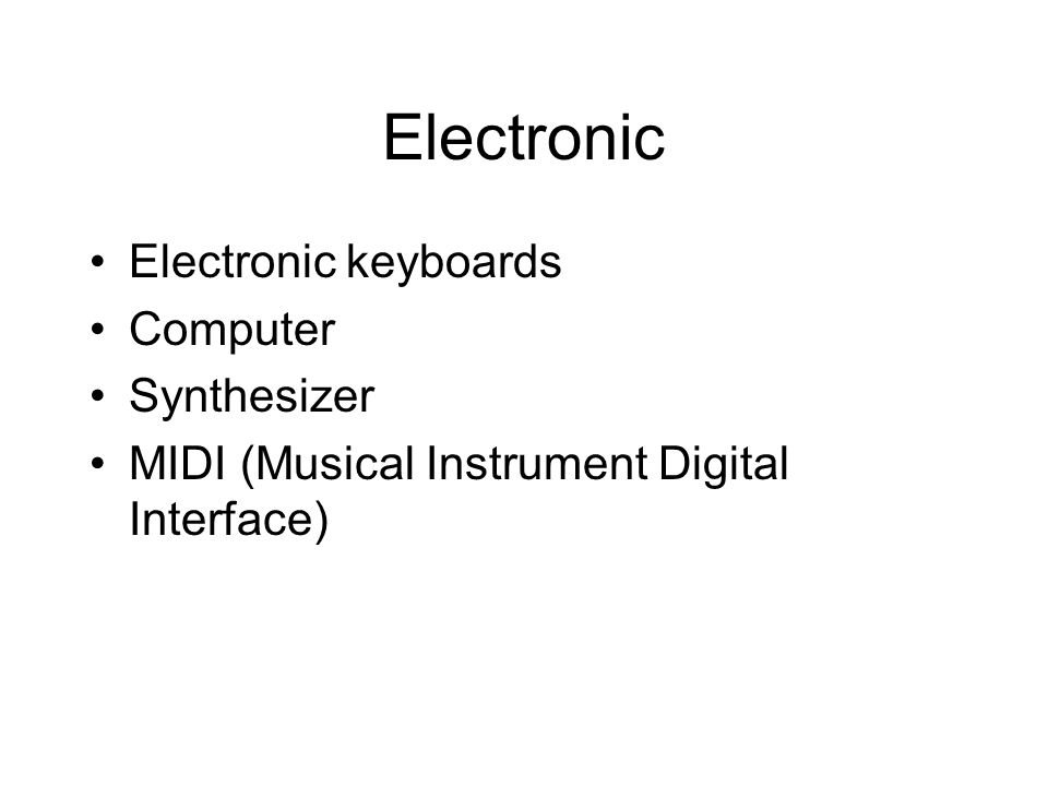 Electronic Electronic keyboards Computer Synthesizer MIDI (Musical Instrument Digital Interface)