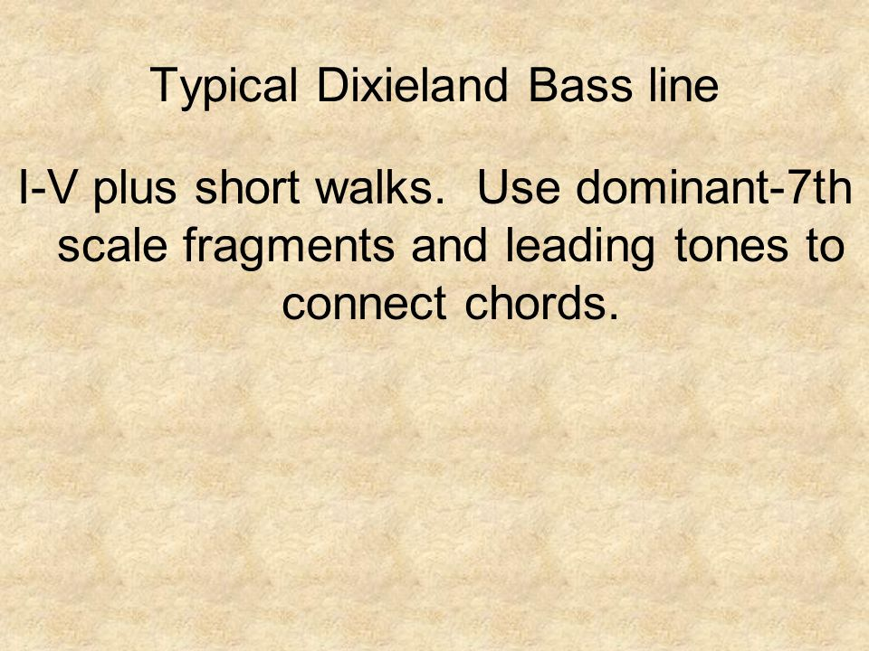 I-V plus short walks.Use dominant-7th scale fragments and leading tones to connect chords.