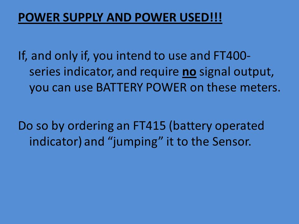 POWER SUPPLY AND POWER USED!!.