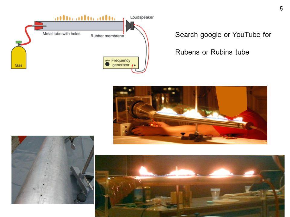 5 Search google or YouTube for Rubens or Rubins tube