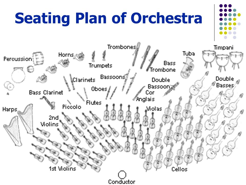 Seating Plan of Orchestra