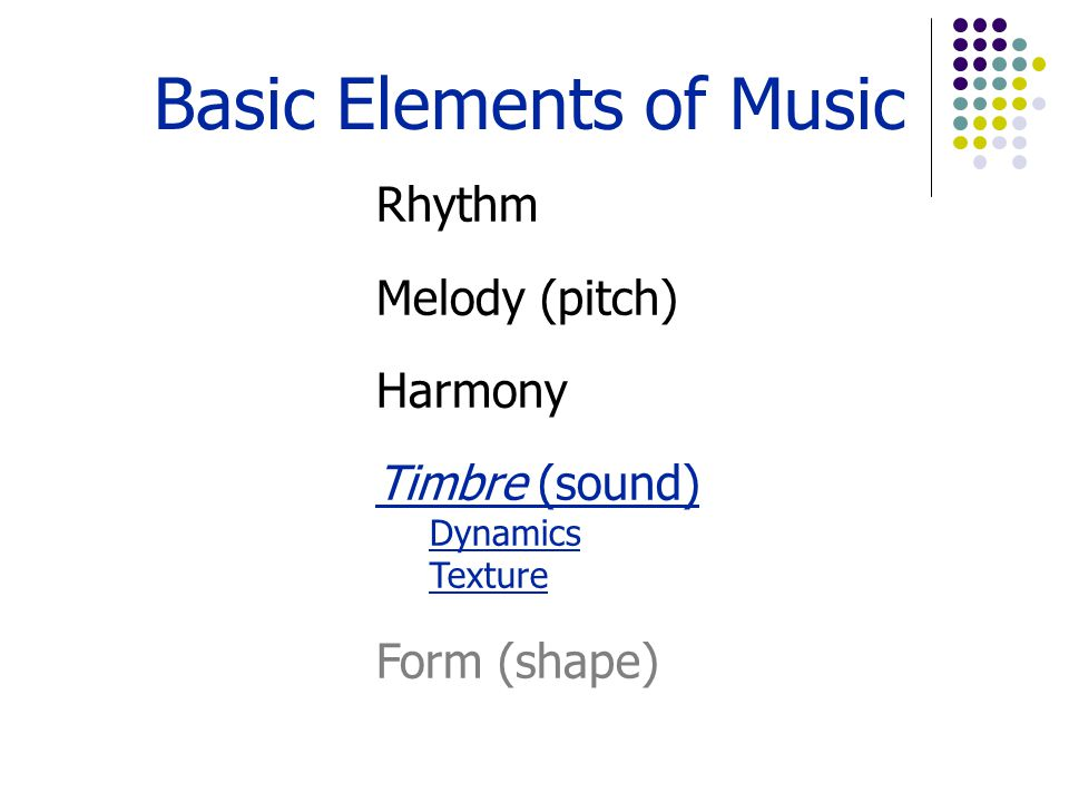 Dynamics are the relative volume of sound and are measured in decibels.