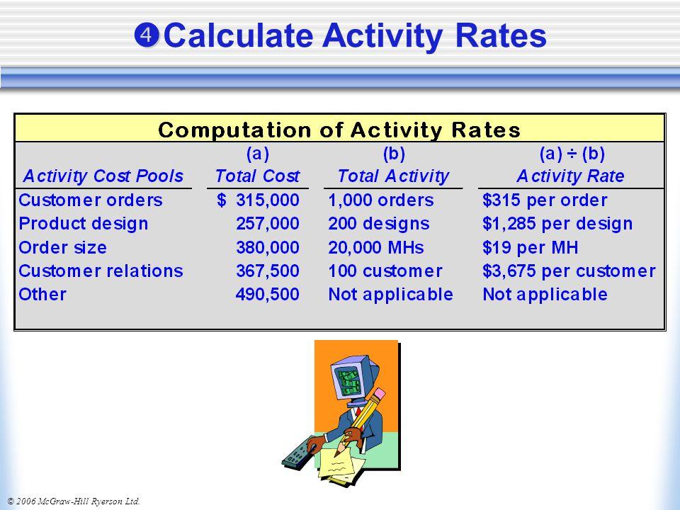 © 2006 McGraw-Hill Ryerson Ltd.   Calculate Activity Rates
