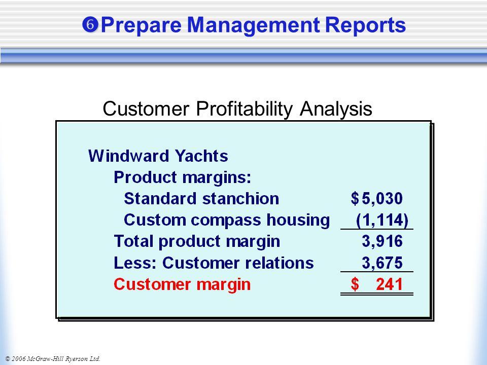 © 2006 McGraw-Hill Ryerson Ltd.   Prepare Management Reports Customer Profitability Analysis